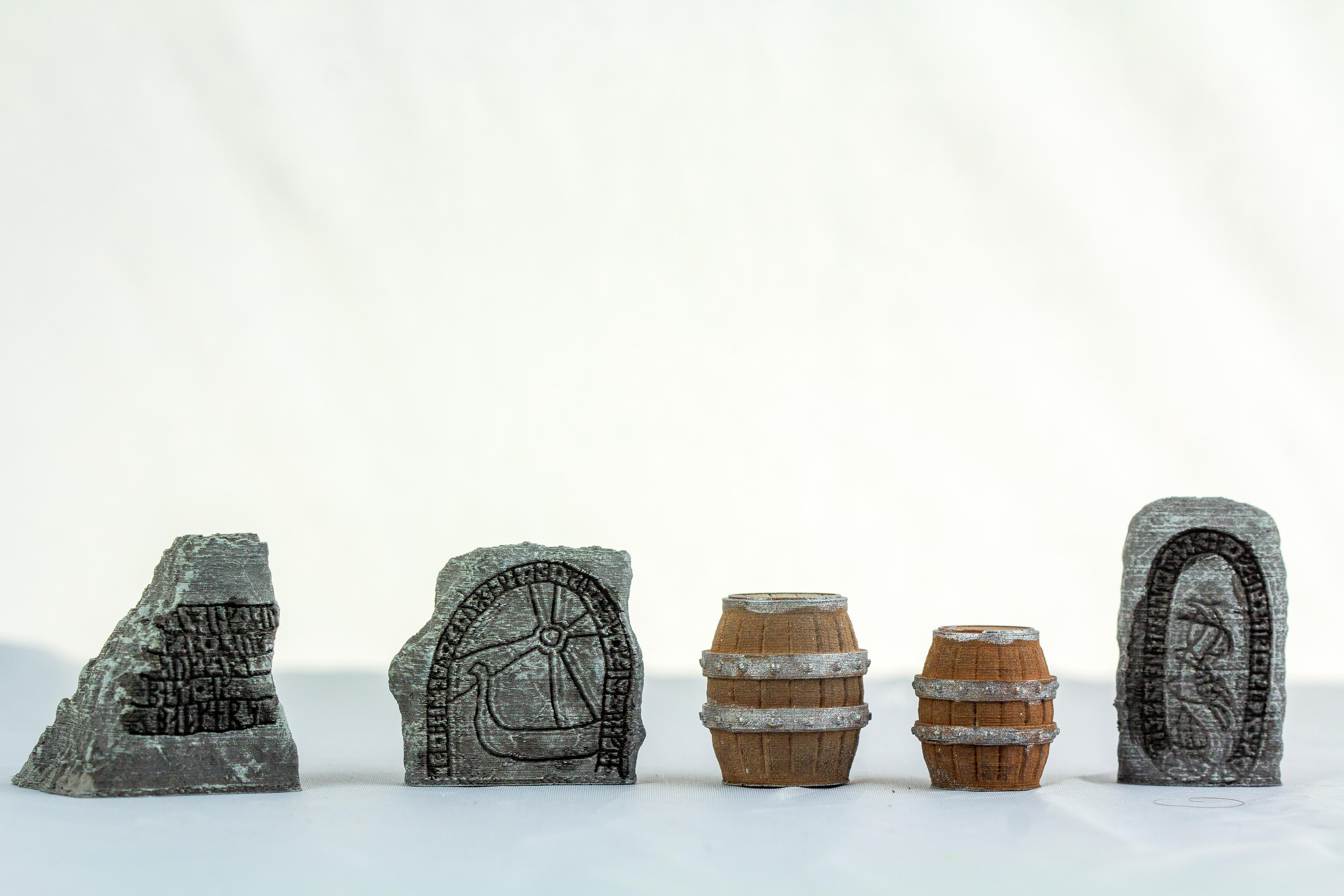 Terrain 4 Print: Runic Stones & Delving Decor Loot Markers: Barrels